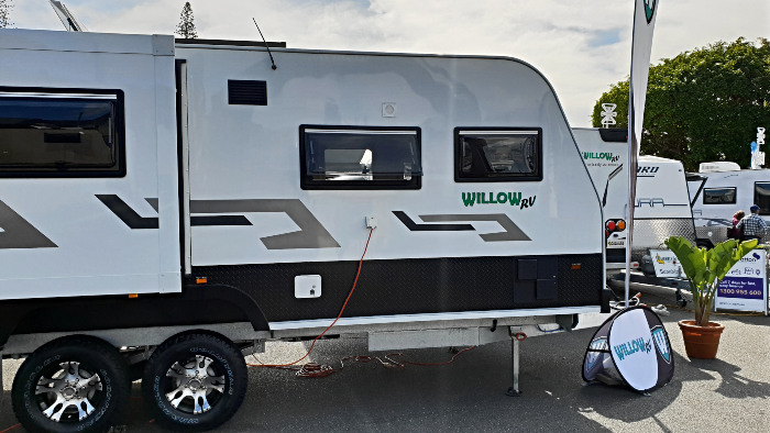 Willow RV Caravan on display at the Caravan & Camping Show