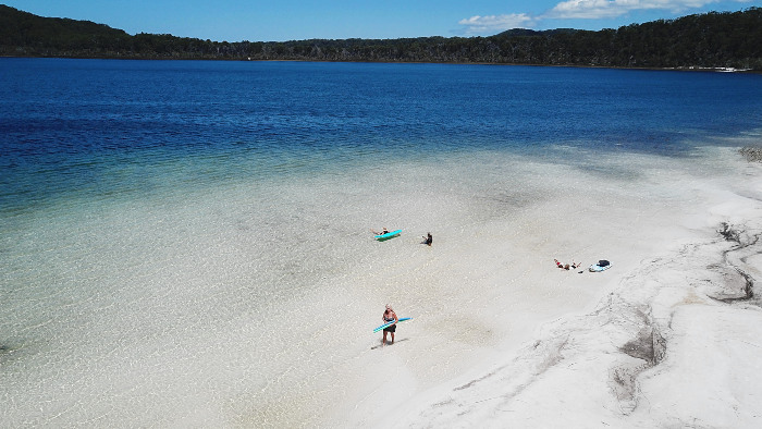 Lake Birrabeen on Fraser Island