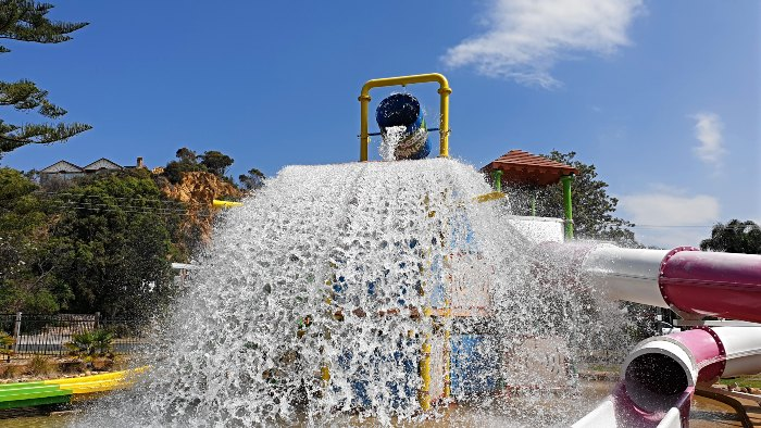 Splishing and a Splashing at Tathra Beachside Caravan Park