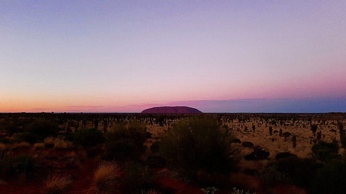 The sunsets at Uluru are magnificent