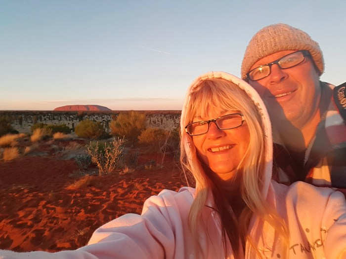 Up at daybreak to see Uluru at sunrise