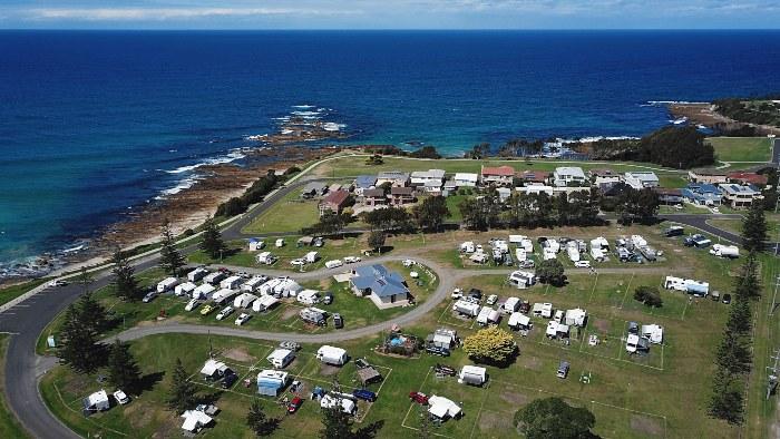 Aerial view of Dalmeny Campground
