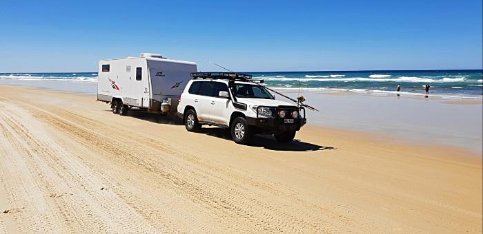 Caravan on Fraser Island