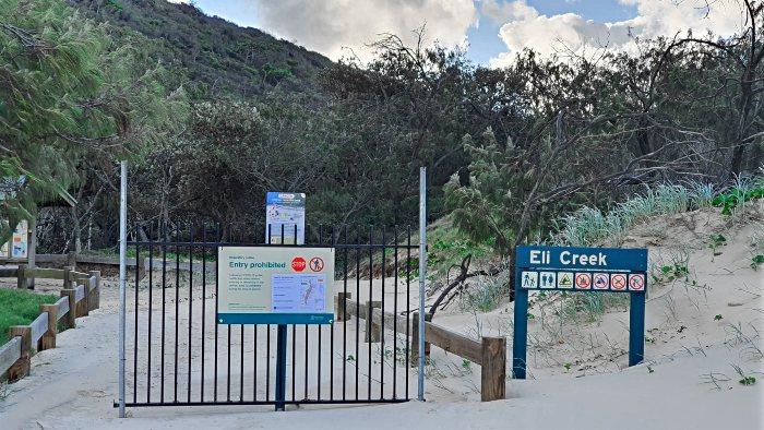 On an island in lockdown - Eli Creek closed