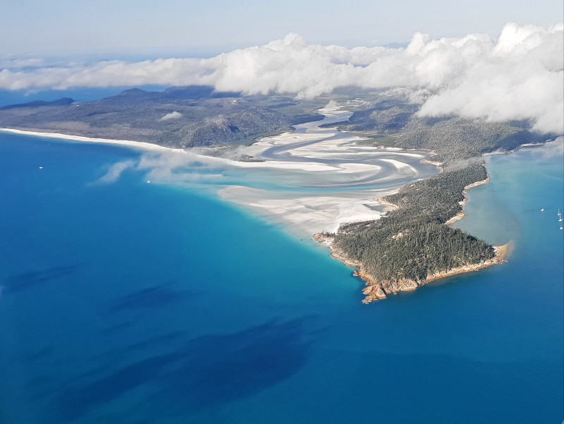 Aerial View of Hill Inlet & Whitehaven Beach