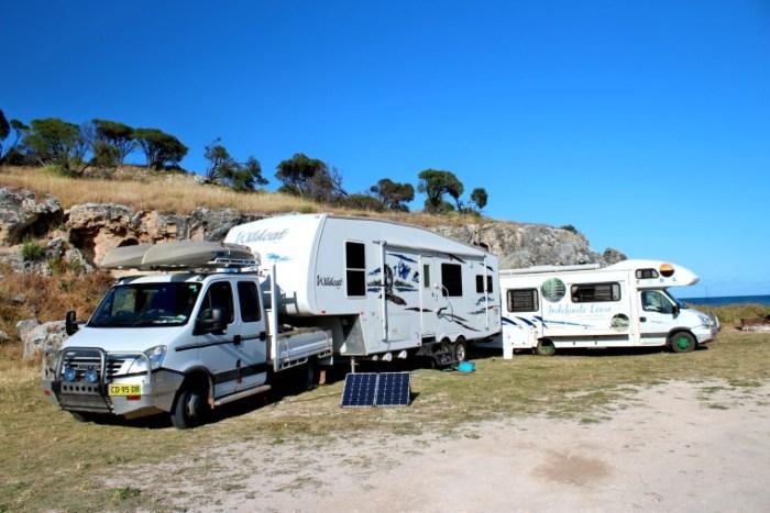 Free Camps or Caravan Parks