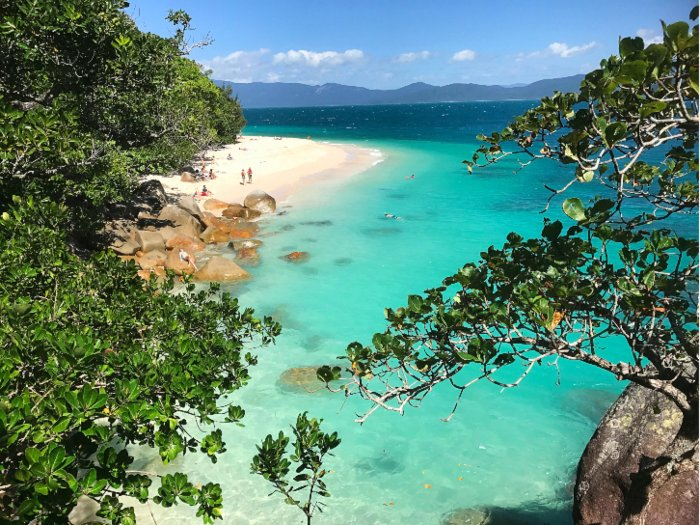 Nudey Beach on Fitzroy Island is one of the awesome things to see and do in Cairns