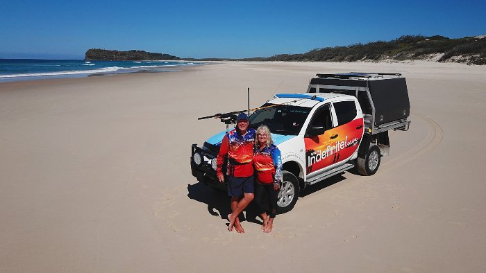 Experiencing Fraser Island with our 4WD
