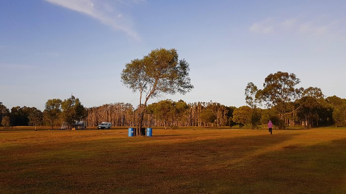 Wide open space for camping at Midskinrick Lodge and Camping