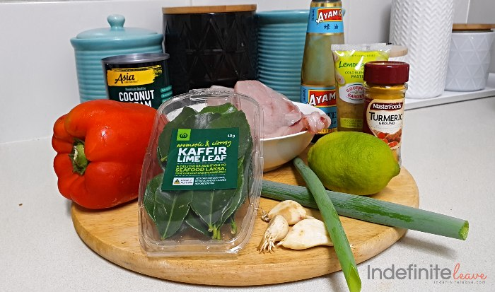 Flavoursome Cambodian Chicken Curry Ingredients