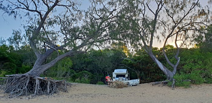 BeachFront Camping at Carmila Beach Campground