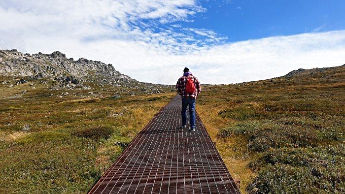 Doing the walk to the Mount Kosciuszko Summit