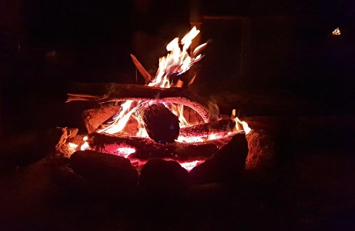 Campfire at Ngarigo Campground