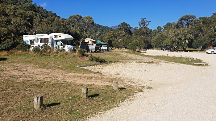 Wide open campsites at Ngarigo Campground