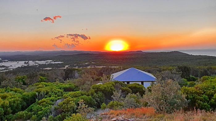 Cape Moreton at Sunset