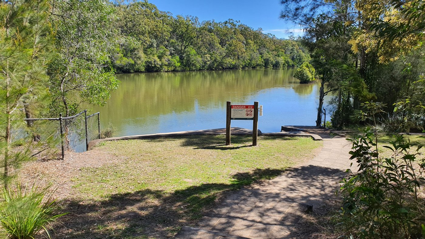 Direct access to Coochin Creek from the campground