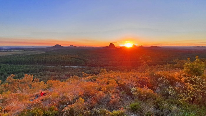 Sunset views from the Wild Horse Mountain Lookout