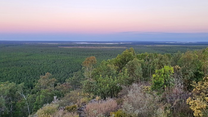 Pastel sunset skies from the Wild Horse Mountain Lookout