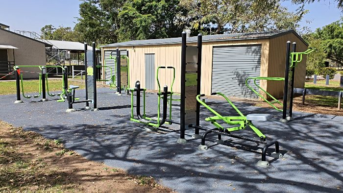 Exercise equipment at Beerwah Sportsground
