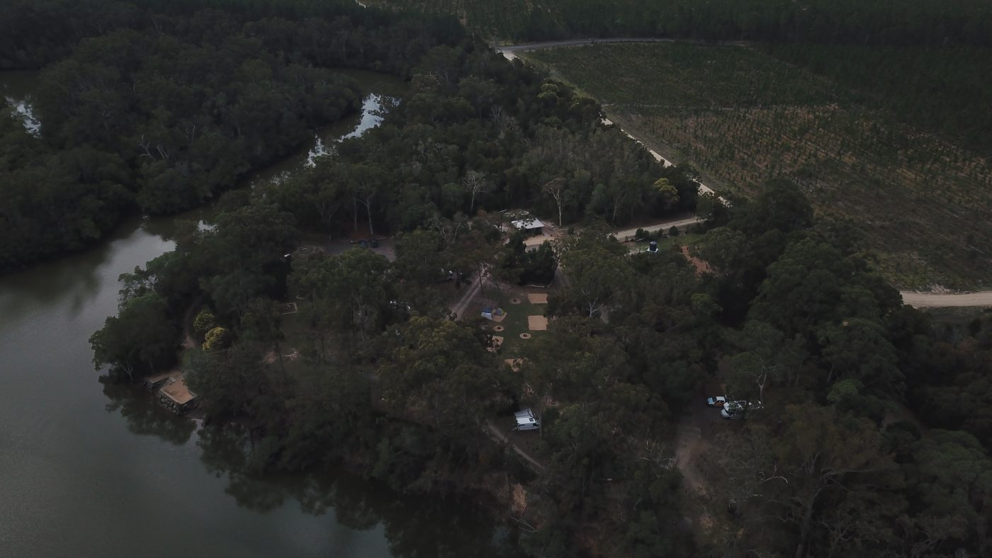 Drone view of Coochin Creek Campground