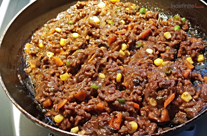 Savoury Mince with peas, corn and capsicum