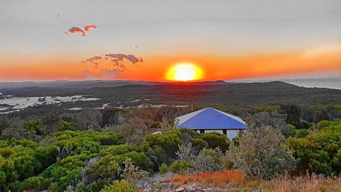 Sunset at Cape Moreton on Moreton Island