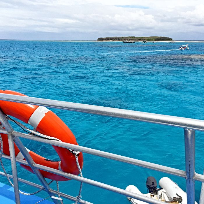 Sailing on Grace II to Great Keppel Island