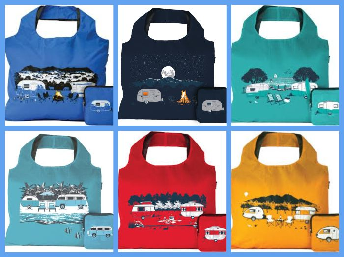 Reusable Caravan Tote Bags - Handy items for families travelling with kids