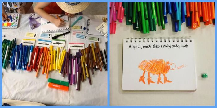 Drawing Game - Handy Items for families travelling with kids