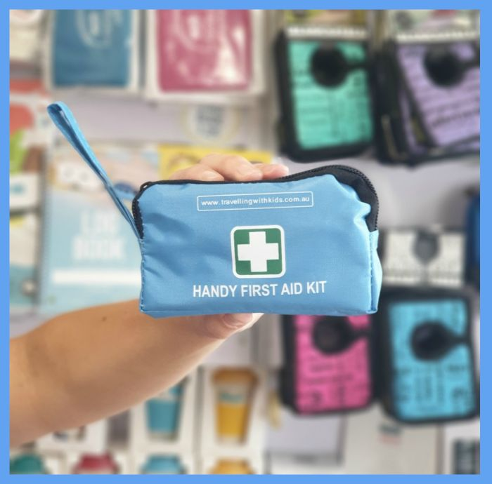 Handy First Aid Kit - Handy Items for families travelling with kids