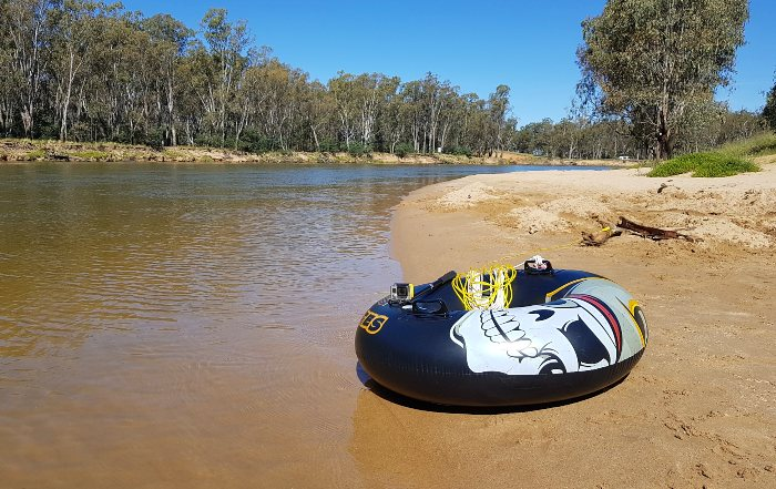 Fun camping on the Murray River