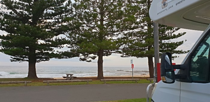 Beachfront views at the Coledale Camping Reserve