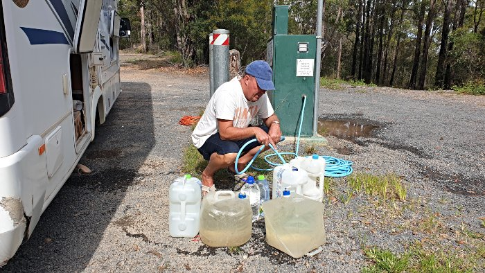 Finding water at the Merimbula Water Fill Station