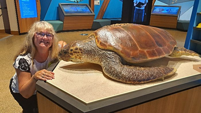 Adele and Turtle at Mon Repos - Why Bundaberg is definitely worth visiting