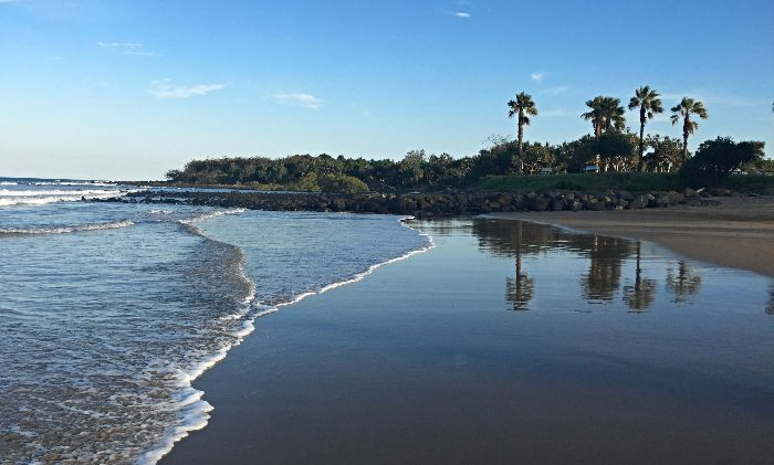 Beach directly opposite Bargara Caravan Park