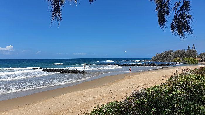 Beach at Bargara Esplanade