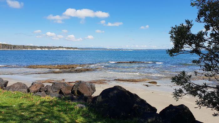 Beach and bay at Woody Head