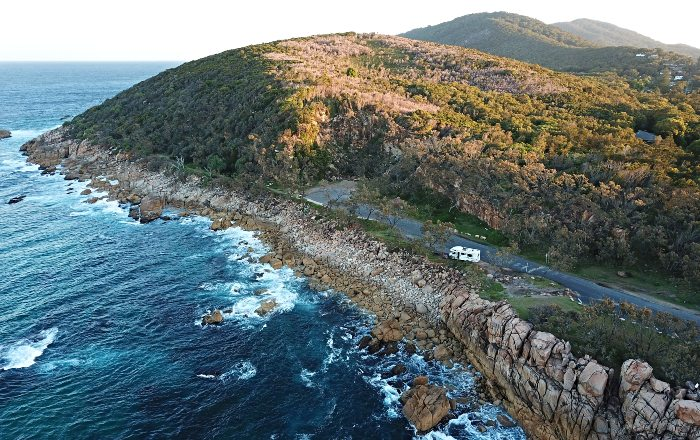 Camping at the Trial Bay Gaol Campground