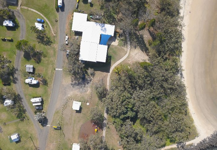 Drone view of Elliott Hds Holiday Park
