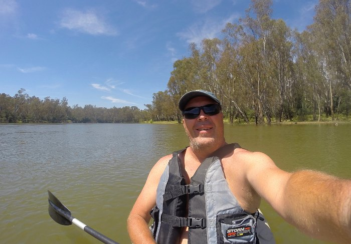 Kayaking on the Murray River
