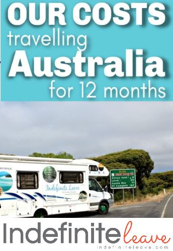 Pin - 12 months costs for travelling australia