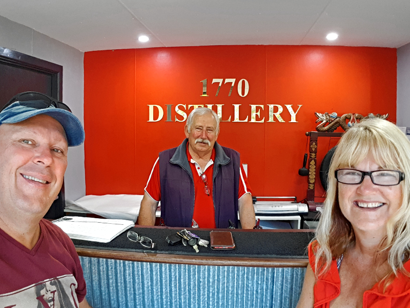 1770 Distillery is just a short drive from Workman's Beach Campground