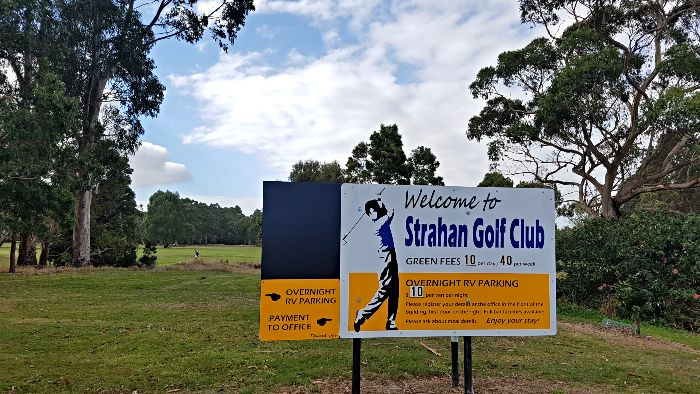 Strahan Golf Club Low Cost Campground in Tasmania