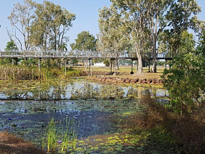 Elevated walkways throught the TYTO Wetlands