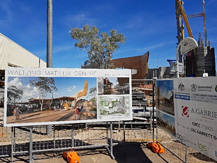 Waltzing Matilda Centre under re-construction in 2017