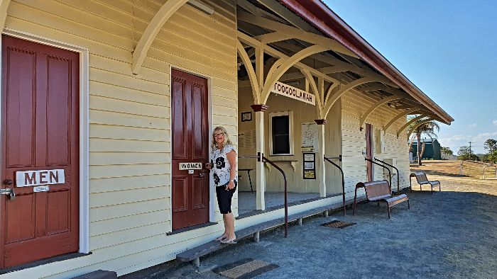 The Toogoolawah Free Camping area is right alongside the Old Toogoolawah Railway Station