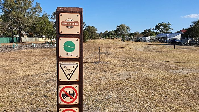 Access the Brisbane Valley Rail Trail from the Toogoolawah Free Camping area