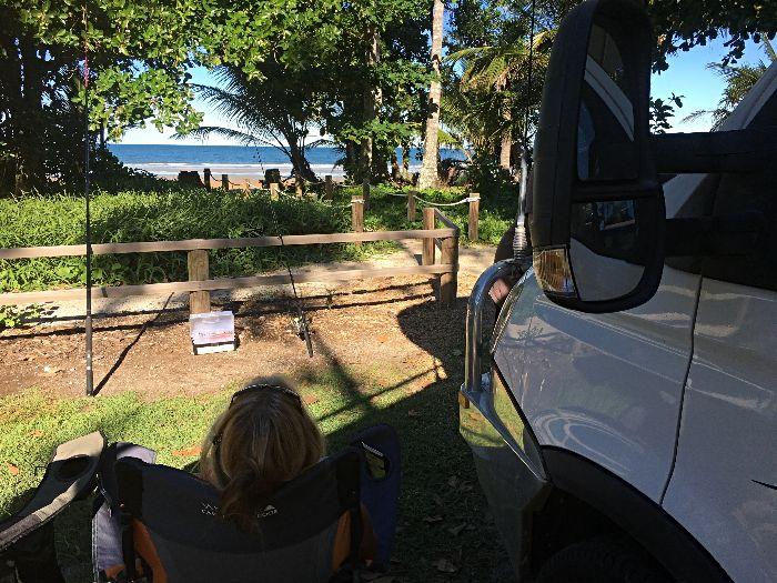 Mission Beach Camping & Caravan Park beachfront campsite