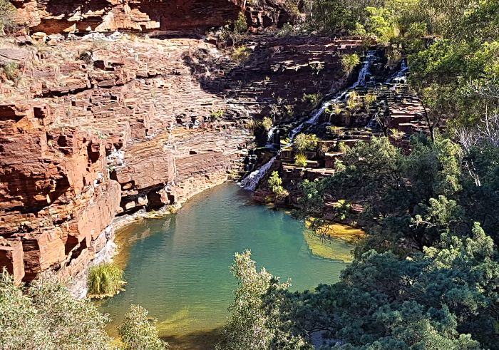 Fortescue Falls from above