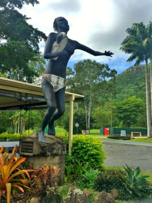 The Leap Hotel Statue